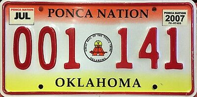 Oklahoma 'Ponca Nation' Indian Tribe Embossed License Plate (001-141)