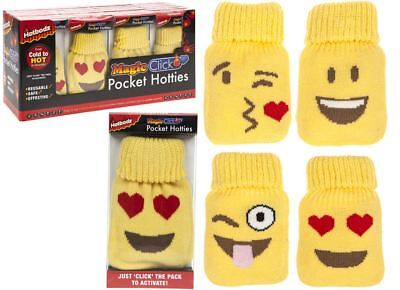 Icons Pocket Hotties Heat Pack Emoji Pocket Warmer With Knitted Covers Gift