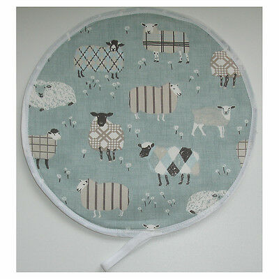 Sheep Aga Range Hob Lid Mat Cover Topper Cook Chef Pad Loop Duck Egg Tartan