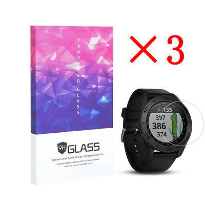 For Garmin Approach S60 Tempered Glass Screen Protector 9H Hardness (3 Packs)