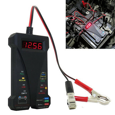 LCD Digital Display Automotive Vehicle Car 12V Battery Tester Analyzer Indicator