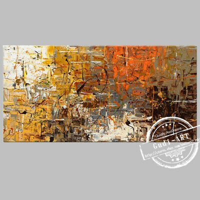 GUDI- Abstract Large Hand Drawing Modern Oil Painting Home Decor Canvas Art Wall