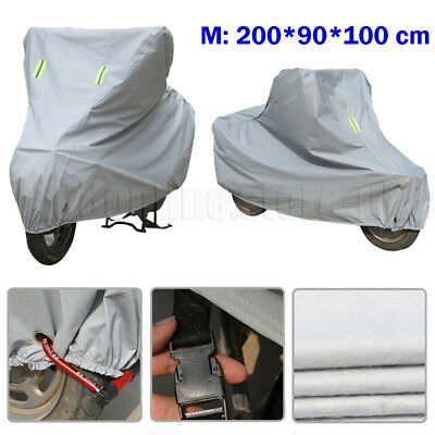 Motorcycle Motorbike Cover Breathable UV Rain Dust Protective Waterproof M Size