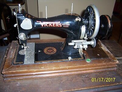 antique sewing machine, VICKERS