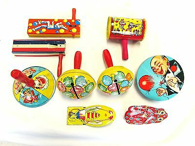 Noise Making Party Toys Vintage Tin Noise Makers Jaymar Kirchhof Life Of Party