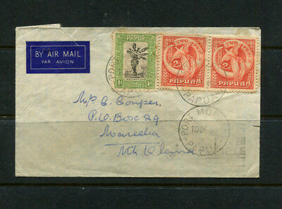Papua 1938 Stamp Cover Incl Nice Pair 2D Bird Of Paradise Airmail To Australia