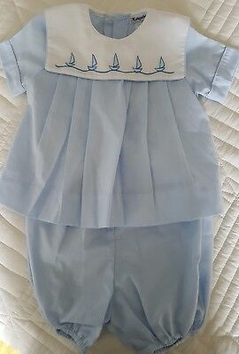 Vintage Marquise Baby Blue Sailor Set NWT Size 00