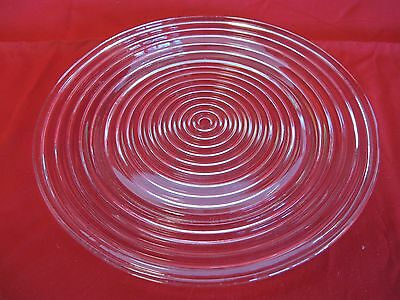 "Manhattan Clear Ringed Ribbed 10"" Dinner Plate"