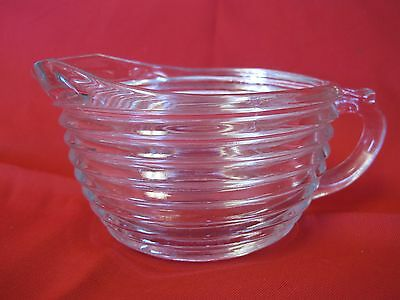 Manhattan Clear Ringed Ribbed Creamer
