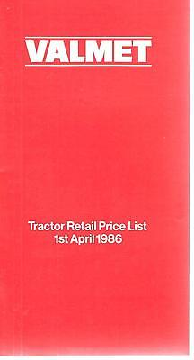 Valmet Tractor Retail Price List April 1986 Leaflet 0218F