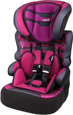 Nania Beline SP LUXE Group 1 2 3 Car Seat and High Back Booster Graphic Pink