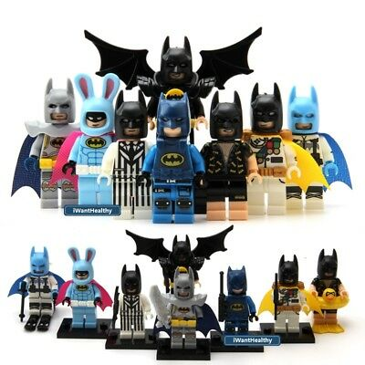 8pcs Super hero Batman Captain America DC Marvel Mini Building Blocks Fit Lego