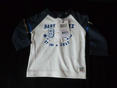 Mexx Baby Boys Long Sleeve Cotton Top  Age 3-6 Months Bnwt
