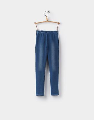 Joules Girls Minnie Denim-Style Leggings from Cotton Mix Size 1 6 Years in Denim