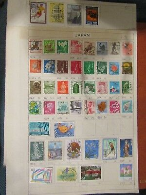 Page Of Old Stamps From Japan