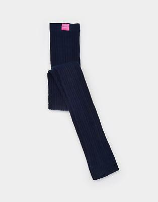 Joules Girls Lulu Cable Knit Leggings from Stretchy Cotton Mix in French Navy