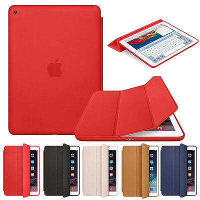 "Original Leather Smart Case Cover for iPad Pro 9.7"" 12.9"" 10.5"" 2/3/4 Mini Air"