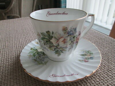 Grandmother Tea Cup And Saucer By Royal Patrician Fine Bone China
