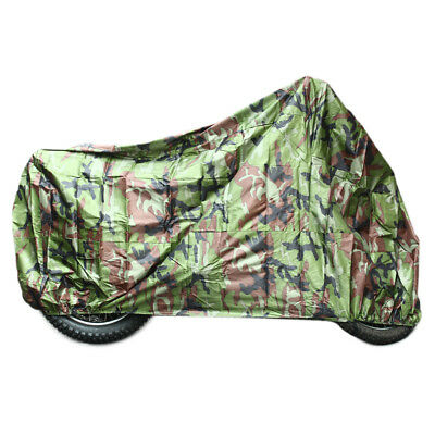 Motorcycle Motorbike Waterproof Rain Cover Anti Dust UV Protection XL Camouflage