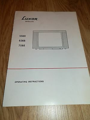 Luxor Satellite 5568/6368/7068 Television Operating Instructions