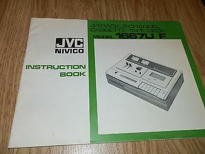 Vintage JVC 1667U/F 4 Track,2 Channel Cassette Tape Deck Instruction Book