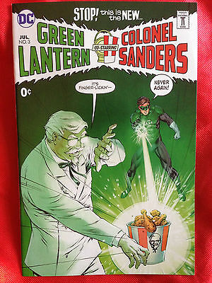 GREEN LANTERN COLONEL SANDERS KFC #3 Across the Universe SDCC 2017 Comic