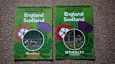 2 England V Scotland Football Programmes