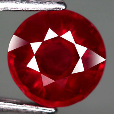 1.87Ct.lovely! Round Facet Top Blood Red Natural Ruby Madagascar