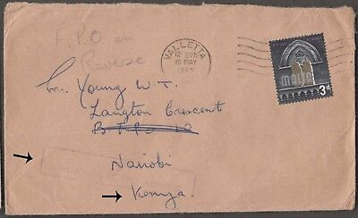 Malta 1965 Scarce Fpo 1002 Cover With 1 Val To To Nairobi, Kenya