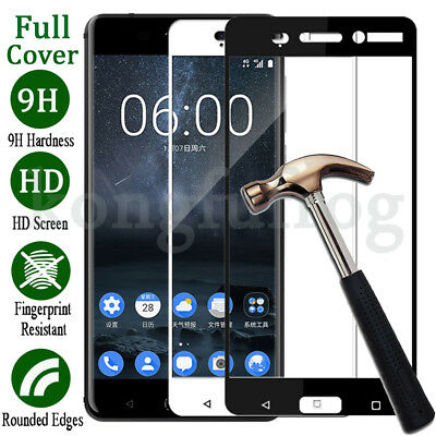 Full Cover 9H Premium Tempered Glass Screen Protector Film For Nokia 3 5 6 8