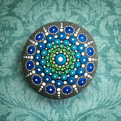 One Elspeth McLean Jewel Mandala Ocean Stone - Sacred Geometry