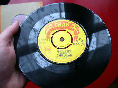 "1969 Crab 7""~Rudy Mills~A Heavy Load/wholesale Love~Ska/rocksteady/reggae Vinyl"