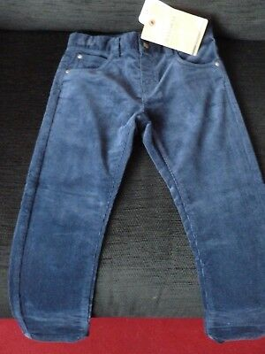 Mayoral  Boys Navy Corduroy Trousers age 4 years bnwt