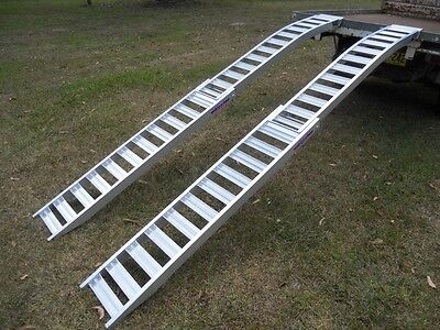 3.5 Metre Folding Curved Loading Ramps Structural Aluminium Aussie Made