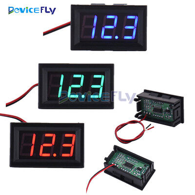 "0.56"" LED Tube Digital DC4.5/4.7/5V-30V 2/3 wires Voltmeter Voltage Panel Meter"