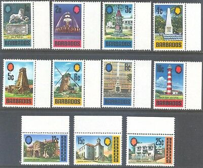 BARBADOS 1970/1 Pictorial Set to 25c (11) MLH/MNH
