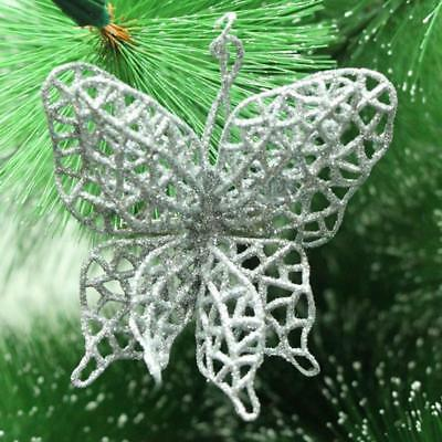 #3 Merry Christmas Glitter Butterfly Hang On Xmas Tree Decor Simple Gifts F