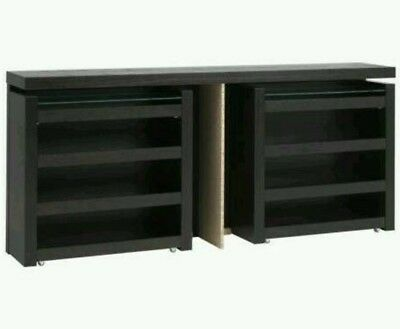 ikea malm kopfteil betthaupt 140cm breit f r malm bett schwarz braun eur 35 00 picclick de. Black Bedroom Furniture Sets. Home Design Ideas