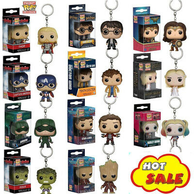 Funko Pocket Pop! Keychain Baby Groot, Batman Vinyl Figure Keyring AU FAST POST