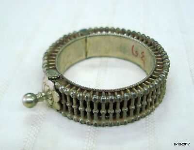 vintage bracelet antique bracelet tribal old silver bangle bracelet cuff