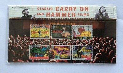Royal Mail Presentation Pack Classic Carry  On and Hammer Films