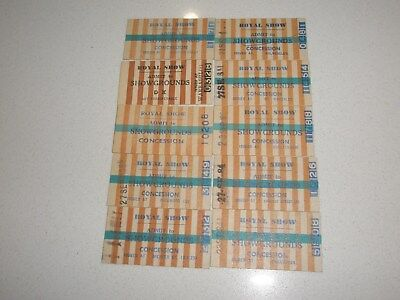 Victorian Railway Tickets Various Admit To Royal Show (Showgrounds) Issues x 10.