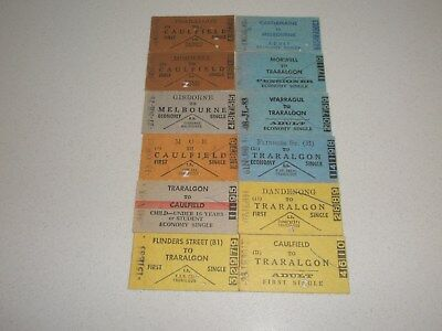 Victorian Railway Tickets Various Used Country Issues x 12.