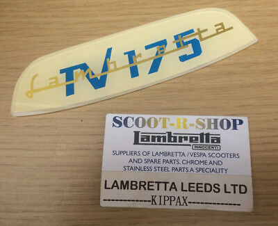 Lambretta Tv 175 Rear Frame Badge . Series 3 Tv 175 - Brand New