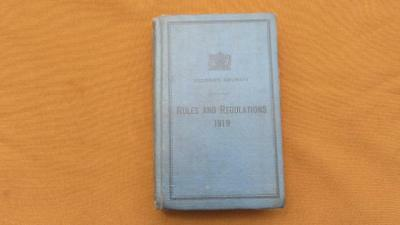 1919 Victorian Railways Rules and Regulations Book for The Guidance of Employe's