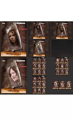 Topps The Walking Dead Chop Set With Awards