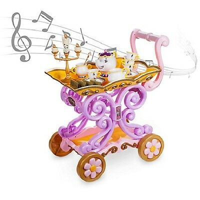 "Disneystore  Beauty And The Beast ""be Our Guest"" Singing Tea Cart Play Set--New"