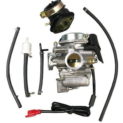 24mm Carburetor Intake Manifold Kit for GY6 150cc Scooter Moped Roketa Carb #