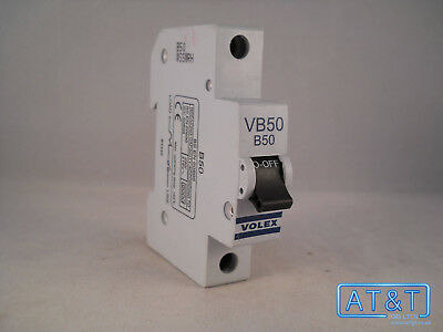 Volex MCB 50 Amp Type B  Single Pole Circuit Breaker VB50