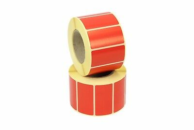50mm x 25mm Red Thermal Transfer labels. 25mm core, 1k Roll, Free Postage.
